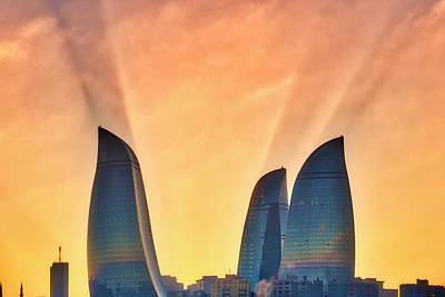 Photograph - Flame Towers by Fabrizio Troiani