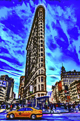 Royalty-Free and Rights-Managed Images - Flatiron Building Art by David Pyatt