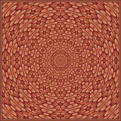 Digital Art - Floral Visage-7 K12 Tile by Doug Morgan