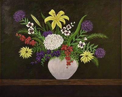 Painting - Mixed Flower Arrangement by Gloria Johnson