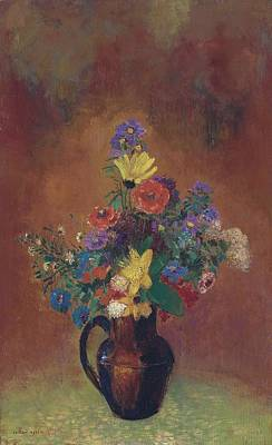 Marvelous Marble - Flowers 01 by Odilon Redon