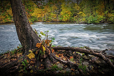 Photograph - Flowing Water On The Thornapple River by Randall Nyhof