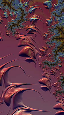 Digital Art - Fractal Playground In Pink by Shelli Fitzpatrick