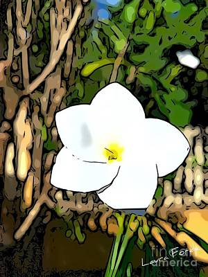Digital Art - Frangipani  by Laura Forde