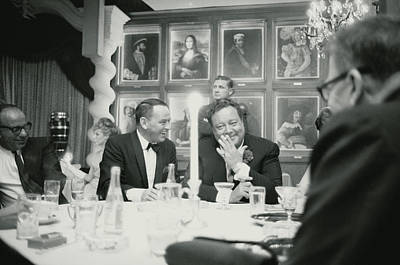 Us State Photograph - Frank Sinatra L Sharing A Laugh With by John Dominis