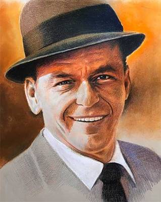 Drawing - Frank Sinatra by Robert Korhonen