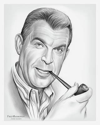 Watercolor City Skylines - Fred MacMurray by Greg Joens