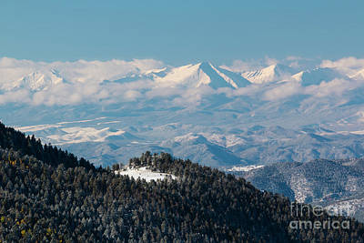 Photograph - Fresh Snow On The Sangre De Cristo by Steve Krull