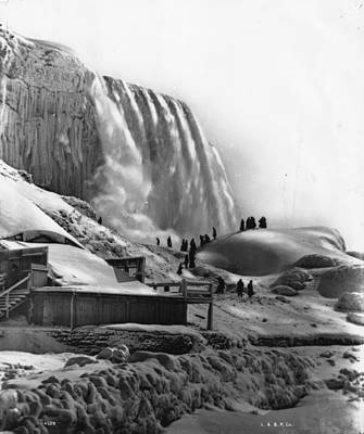 Photograph - Frozen Niagara by London Stereoscopic Company