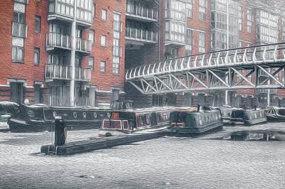 Photograph - Frozen Sherborne Wharf No 3 by Chris Fletcher