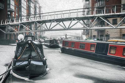 Photograph - Frozen Sherborne Wharf No 6 by Chris Fletcher