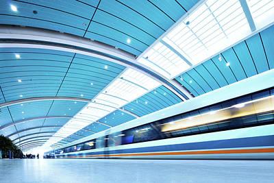 Photograph - Futuristic Train by Nikada