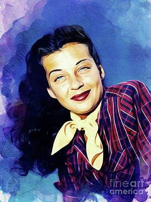 Royalty-Free and Rights-Managed Images - Gail Russell, Vintage Actress by Esoterica Art Agency