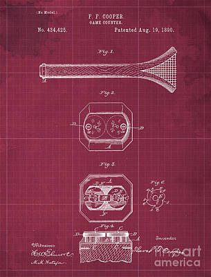 Royalty-Free and Rights-Managed Images - Game Counter Antique Patent Year 1890 by Drawspots Illustrations