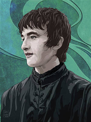 Comics Royalty-Free and Rights-Managed Images - GAME OF THRONES Bran Stark by Garth Glazier