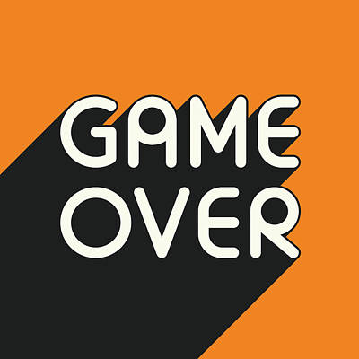 Black And White Art Digital Art - Game Over by Jazzberry Blue