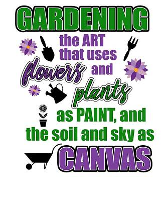 Digital Art - Garden Quotes by Dawn Romine