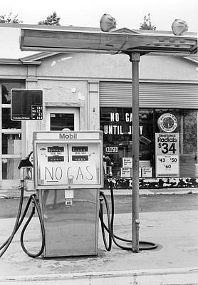 Photograph - Gas Station Out Of Gas, Summer 1979 by Education Images/uig