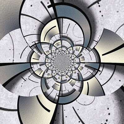 Surrealism Digital Art Rights Managed Images - Geometric fractal Royalty-Free Image by Bruce Rolff