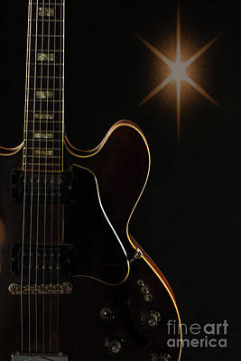 Photograph - Gibson Guitar Picture In Sky 1744.008 by M K Miller