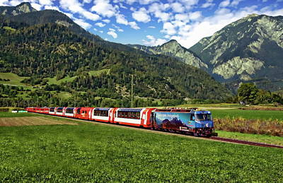 Photograph - Glacier Express by Anthony Dezenzio