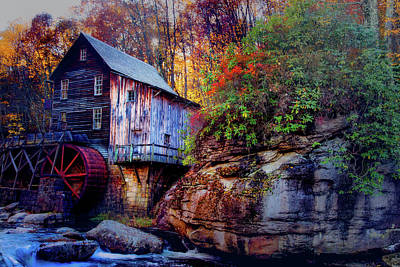 Photograph - Glade Creek Grist Mill by Pete Federico