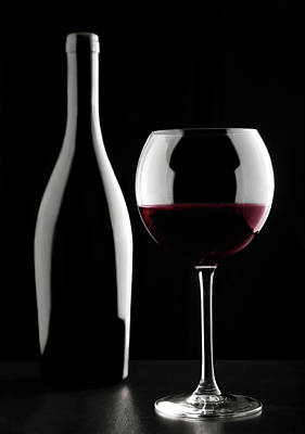 Photograph - Glass Of Red Wine by Mauro grigollo