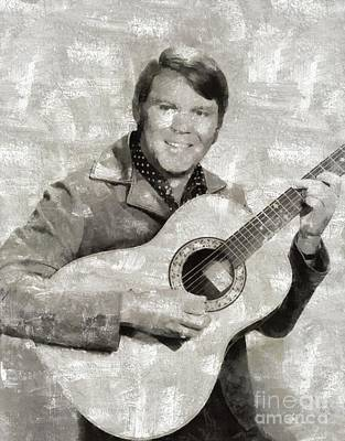 Music Paintings - Glen Campbell, Music Legend by Esoterica Art Agency