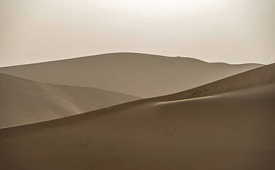 Photograph - Gobi Desert Abstract Dunhuang Gansu China by Adam Rainoff