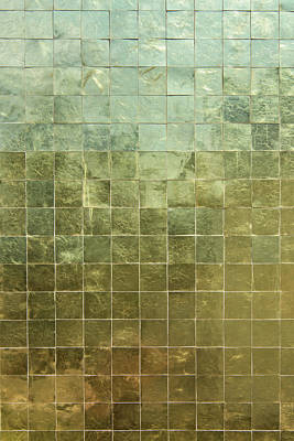 Lucille Ball - Gold surface tiles closeup by Sina Vodjani