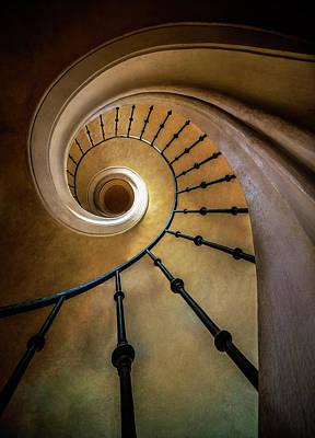 Photograph - Golden Spiral Staircase by Jaroslaw Blaminsky