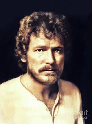 Recently Sold - Music Paintings - Gordon Lightfoot, Music Legend by Esoterica Art Agency