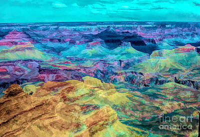 Digital Art - Grand Canyon Digital Art  by Chuck Kuhn