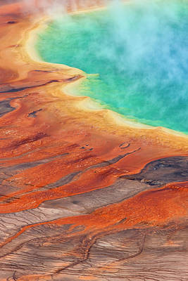 Photograph - Grand Prismatic Pool, Midway Geyser by Ingo Arndt/ Minden Pictures