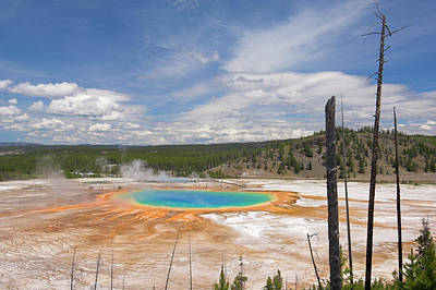 Photograph - Grand Prismatic Spring And Excelsior by Neale Clark / Robertharding