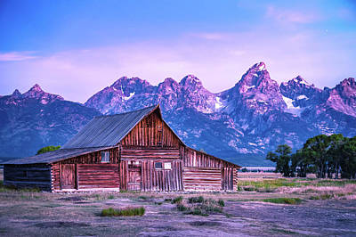 Photograph - Grand Teton Scenic View With Abandoned Barn On Mormon Row by Alex Grichenko