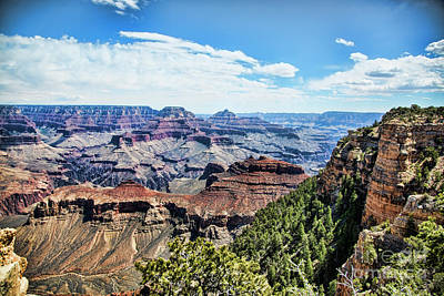 Photograph - Grand View Grand Canyon  by Chuck Kuhn