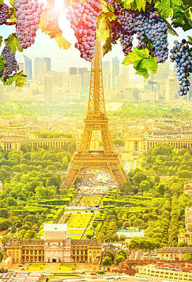 Photograph - Grapes Hanging In Paris by Benny Marty