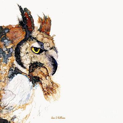 Painting - Great Hoot by Jan Killian