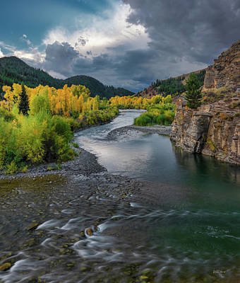 Photograph - Gros Ventre River Autumn by Leland D Howard