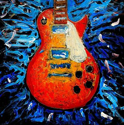 Painting - Guitar Slinger by Neal Barbosa