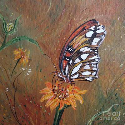 Painting - Gulf Fritillary by Lizi Beard-Ward