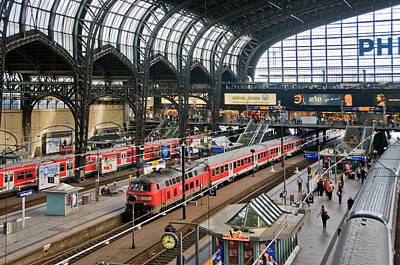 Photograph - Hamburg Central Train Station by Izzet Keribar