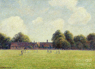 Painting - Hampton Court Green, 1891 by Camille Pissarro