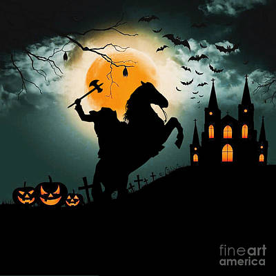 Recently Sold - Fantasy Royalty-Free and Rights-Managed Images - Headless Horseman by Valentina Hramov