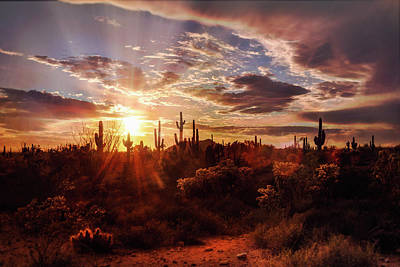Photograph - Heavenly Desert Skies At Sunset   by Saija Lehtonen
