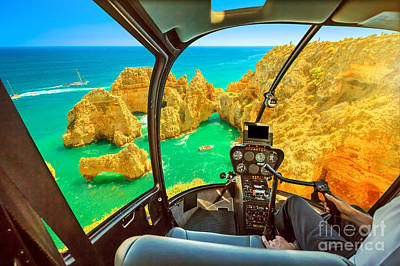 Photograph - Helicopter On Ponta Da Piedade by Benny Marty