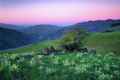 Photograph - Hells Canyon Sunrise by Leland D Howard