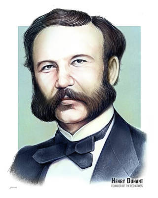 Mixed Media Rights Managed Images - Henry Dunant Royalty-Free Image by Greg Joens