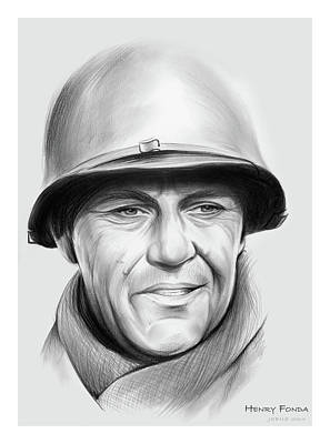 Drawings Rights Managed Images - Henry Fonda Royalty-Free Image by Greg Joens